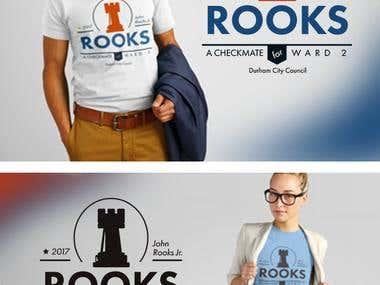 Rooks Campaign T-Shirt Design