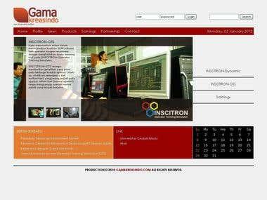 CMS Based company website