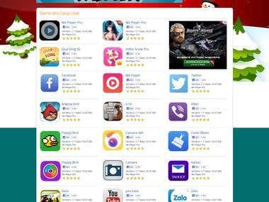 Website Home Page Mock-up Design