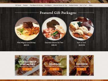Steak & Seafood Shopping Cart