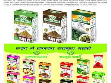 website for spices,Name is satguru masale.
