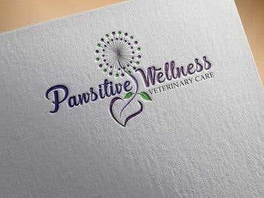 Pawsitive Wellness Veterinary Care logo design