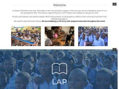Charity Website - Literacy Against Poverty