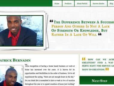 Patrick Bernadin Personal Site