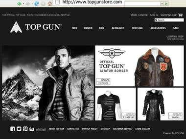 http://www.topgunstore.com/ - Based on Magento