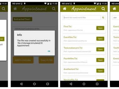Android App - Optical Character Recoginition for Appointment