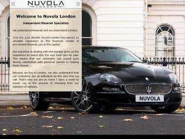 http://www.nuvolalondon.com/ - Custom CMS