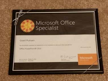 Microsoft PowerPoint Certification