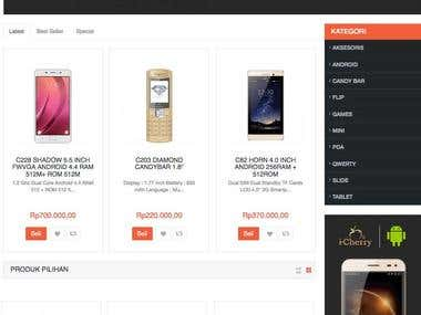 Icherry Mobile Phone Ecommerce Website
