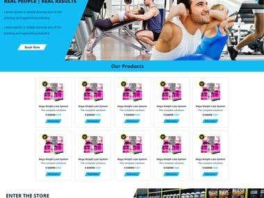 Fitness Website Home Page mockup design