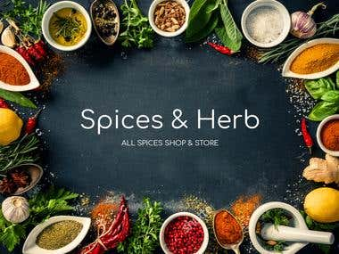 Spices & Herb Banner
