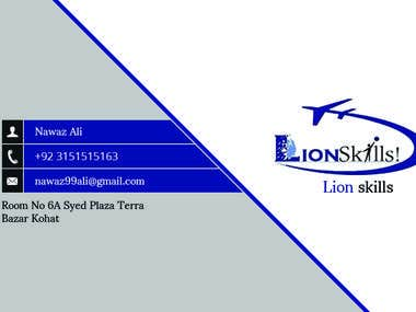 Lion Skills Business Card (frond-end)