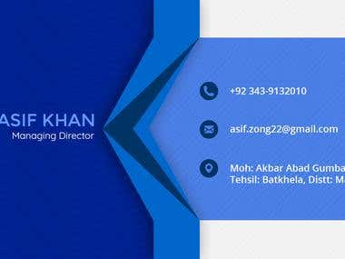 Visiting Card (front-end)