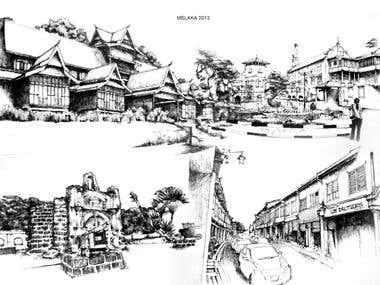Hand Drawn + Sketches + Fine Art