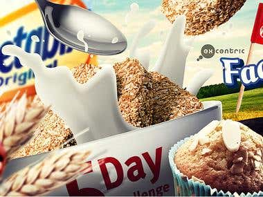 Weetabix and Alpen Facebook Ads and photomontages