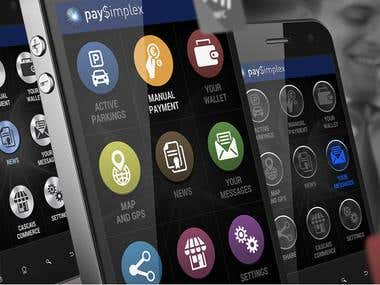 PaySimplex Parking App icons