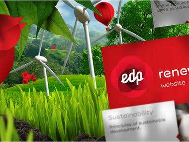 EDP Renewables Website and photomontages