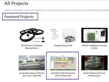 My Project is featured on LabVIEW MakerHub
