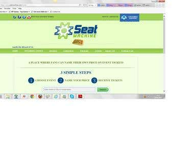 Seat Machine An Event Ticket Website