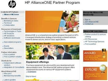 Enterprise portal:- www.hp.com/dspp