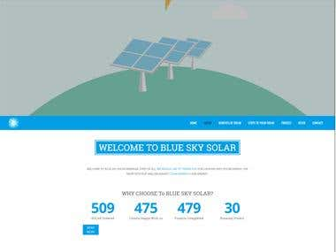 Blueskysolar inc website development