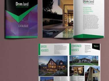Trifold Brochure, Сatalogue, Site Design