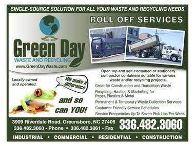 Green Day Recycling Postcard Design
