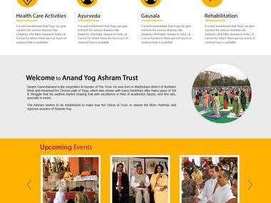 "Website of ""Anand Yog Ashram Trust""."
