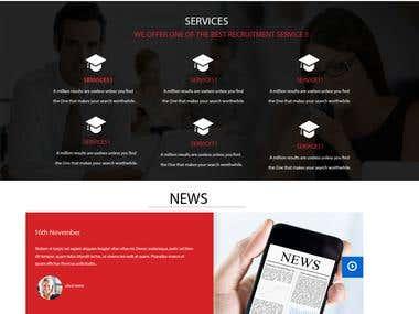 """Consultancy Website """"KAJRI HIRING."""