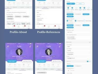 Mobile app UI Design (Care2cart)