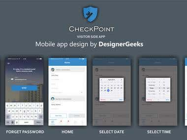 Mobile app UI Design (Checkpoint)