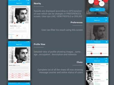 Mobile app UI Design (HowMatch)