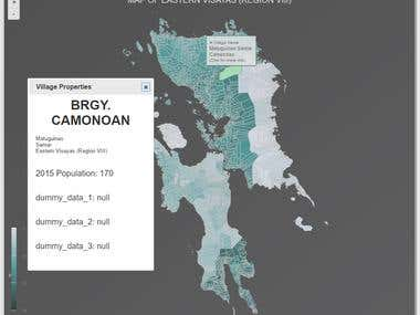 webMap of Eastern Visayas (Region VIII) in Philippines