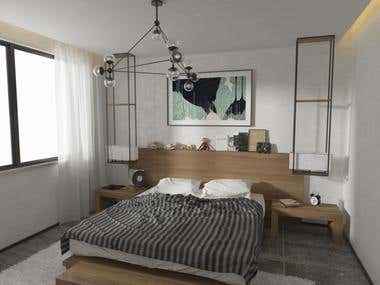 Render a small bedroom.