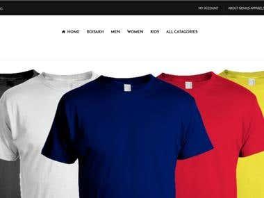 Genius Apparels (Online Shopping website)