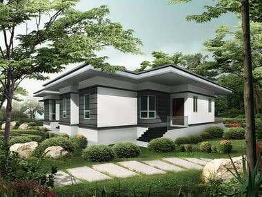 3D Modelling + Architectural Design + Perspective Render