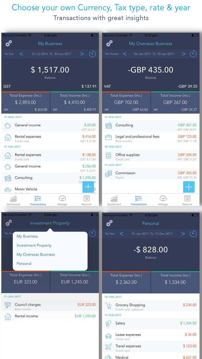 iOS APP - Taxpense | Freelancer