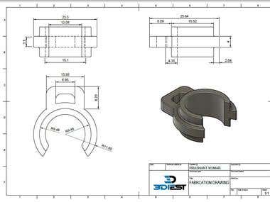 Detailed Fabrication drawing