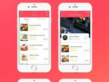 Just eat app design