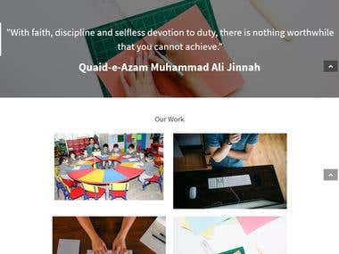 Website for Client Ayesha Siddiqa Academy
