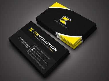Black&Sleek Business Card Design (Winning Contest Design)