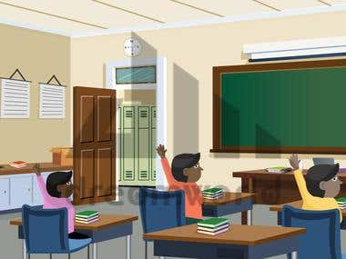 Class Room illustration