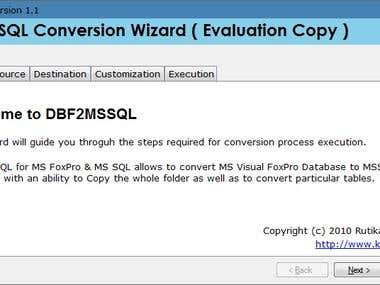 DBF 2 MSSQL Conversion