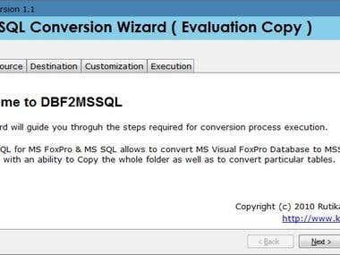 DBF 2 MSSQL Conversion