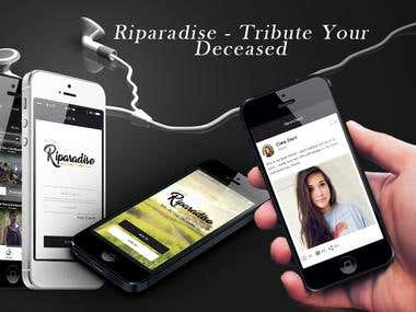 Riparadise - Tribute Your Deceased (Photo sharing App)