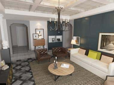 Render living room.