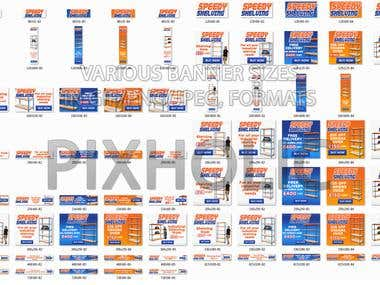 Banner Design in various Sizes & Fromats (Gif/PNG/Jpeg/Flash
