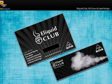 Eliquid Club_FB Cover & Label Design