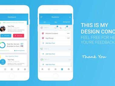 Test app design - 2 screen