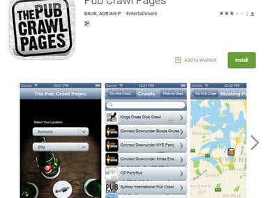 Pub Crawl Pages